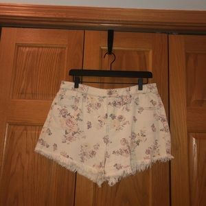 Mossimo Floral High Waisted Shorts